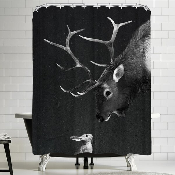 Laura Graves Elk&Rabbit Shower Curtain by East Urban Home