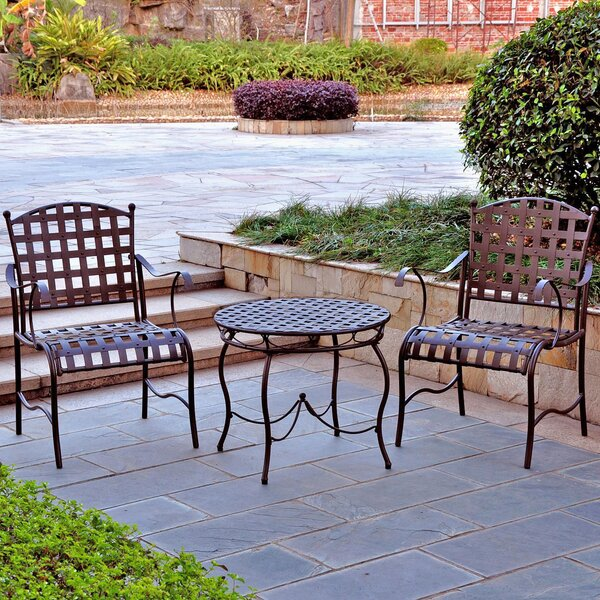 Schilling 3 Piece Bistro Set by Alcott Hill