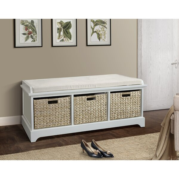 Fleming Wooden Bench by Beachcrest Home