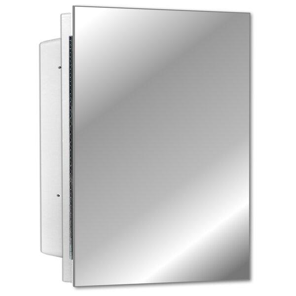 Adaiyah Recessed Frameless Single Door Medicine Cabinet with 2 Adjustable Shelves