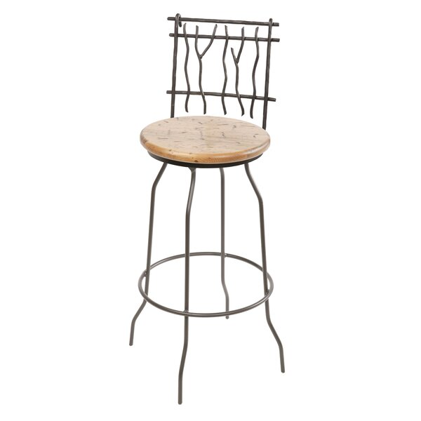 Traylor Swivel Bar & Counter Stool by Millwood Pines Millwood Pines