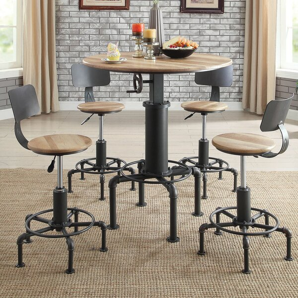 Angelica Wine 5 Piece Pub Table Set by 17 Stories