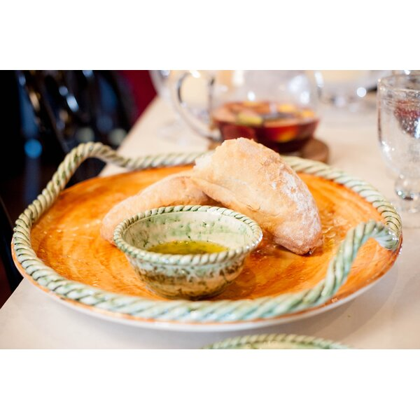 Pamplona Round Platter with Rope Edge by Abigails