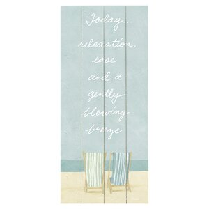 Relaxation Graphic Art Print Multi-Piece Image on Wood by Artehouse LLC