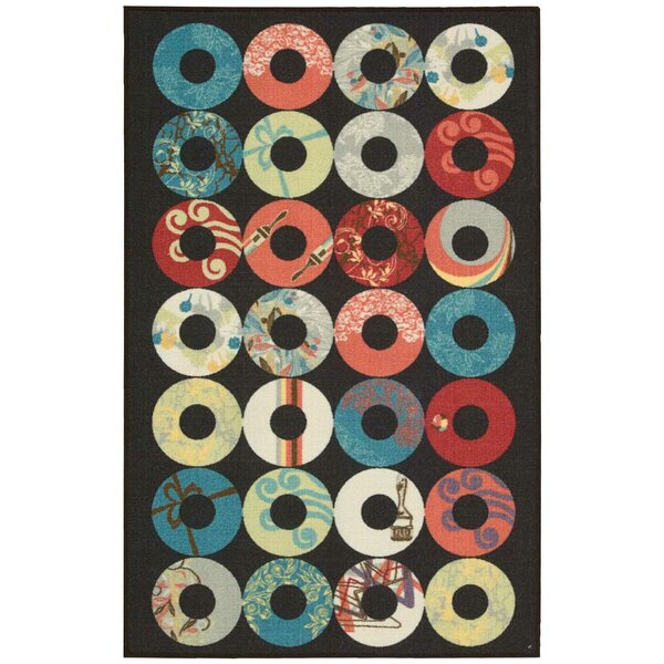 Woodby Black/Teal Area Rug by Winston Porter