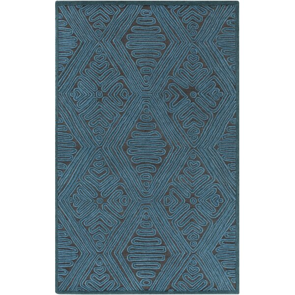 Enkhuizen Hand-Woven Blue Area Rug by Bungalow Rose