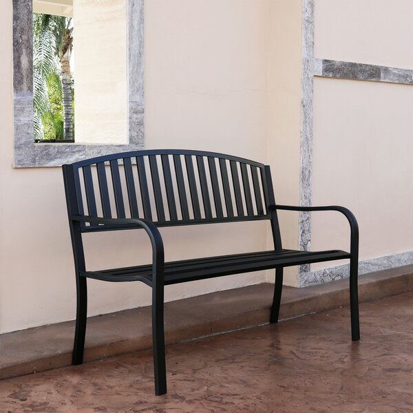 Pettit Steel Garden Bench by Williston Forge Williston Forge