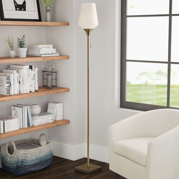 Derry 71 Torchiere Floor Lamp by Latitude Run