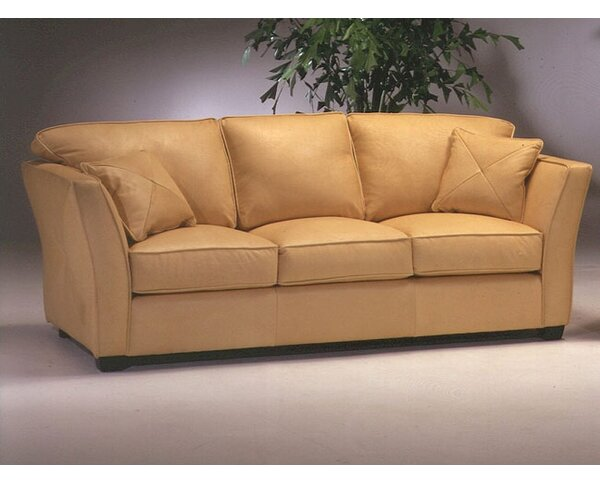 Manhattan Leather Sleeper Sofa by Omnia Leather