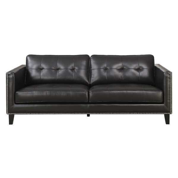 Glen View Leather Standard Sofa by Red Barrel Studio