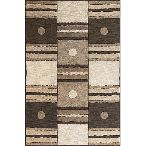 Correa Ivory/Mocha Dominoes Rug by Ebern Designs