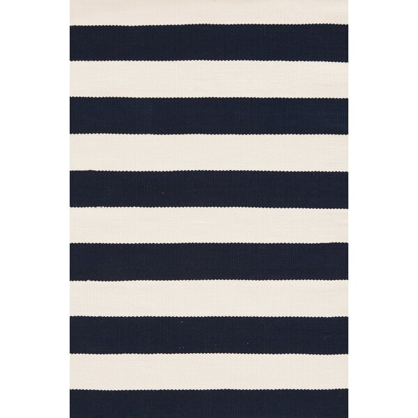 Catamaran Hand Woven White/Blue Indoor/Outdoor Area Rug by Dash and Albert Rugs
