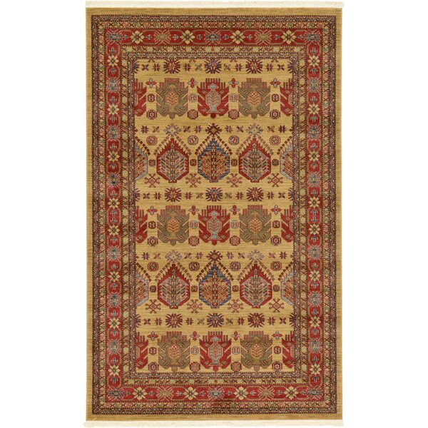 Valley Beige Area Rug by World Menagerie