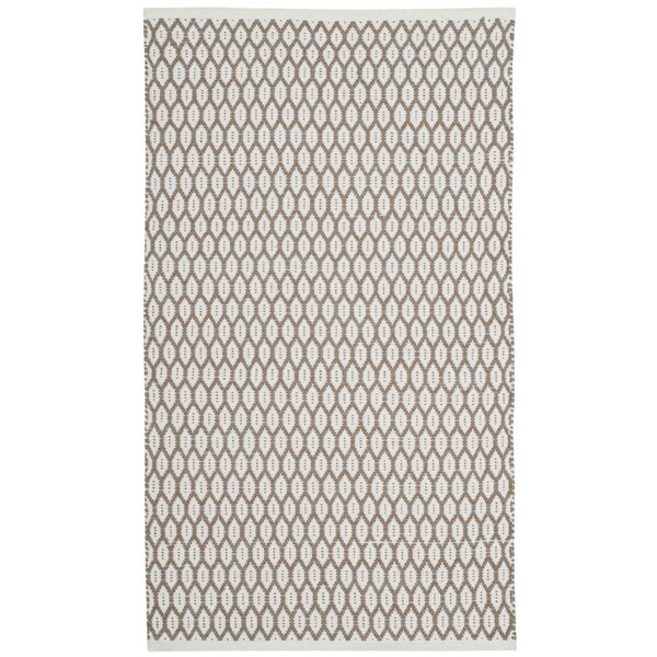 Modena Hand-Woven Beige/Ivory Area Rug by Gracie Oaks