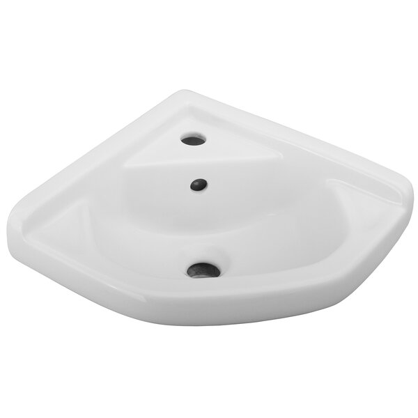 Vitreous China Specialty Wall-Mount Bathroom Sink with Overflow by Barclay