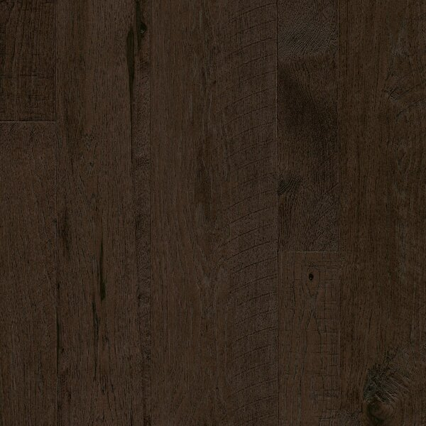Random Width Engineered Hickory Hardwood Flooring in Shaded Coffee by Armstrong Flooring