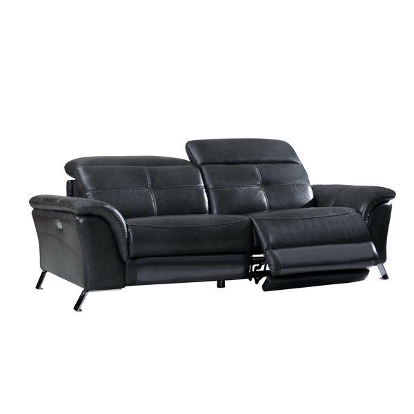 Read Reviews Boruta Leather Reclining Sofa