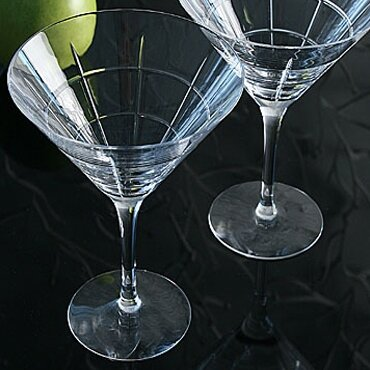 Street Martini 8 oz. Crystal Cocktail Glass (Set of 2) by Orrefors