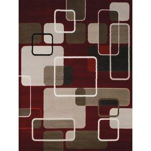 China Garden Jazz Red/Beige/Brown Area Rug