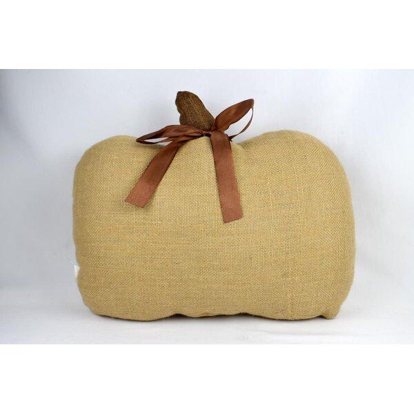 Masuda Burlap Pumpkin Throw Pillow by The Holiday Aisle