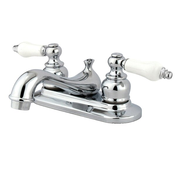 Restoration Centerset Bathroom Faucet with Drain Assembly by Kingston Brass Kingston Brass