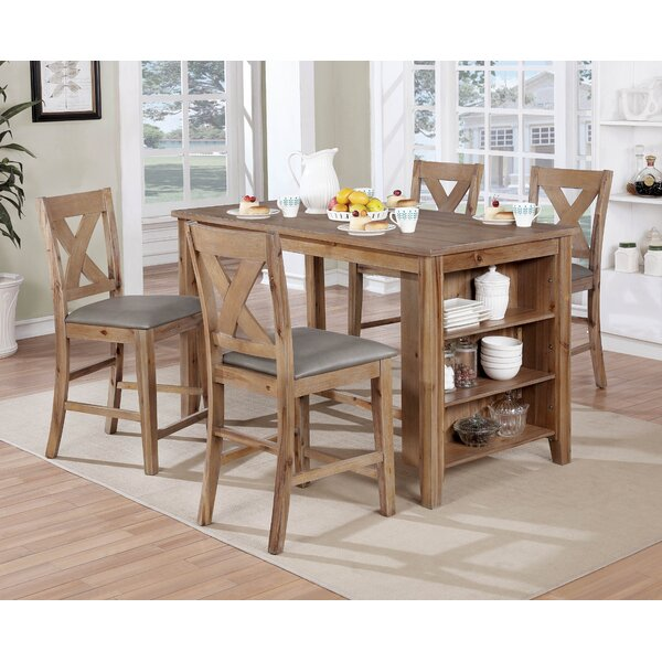 Cliffe 5 Piece Pub Table Set by Gracie Oaks