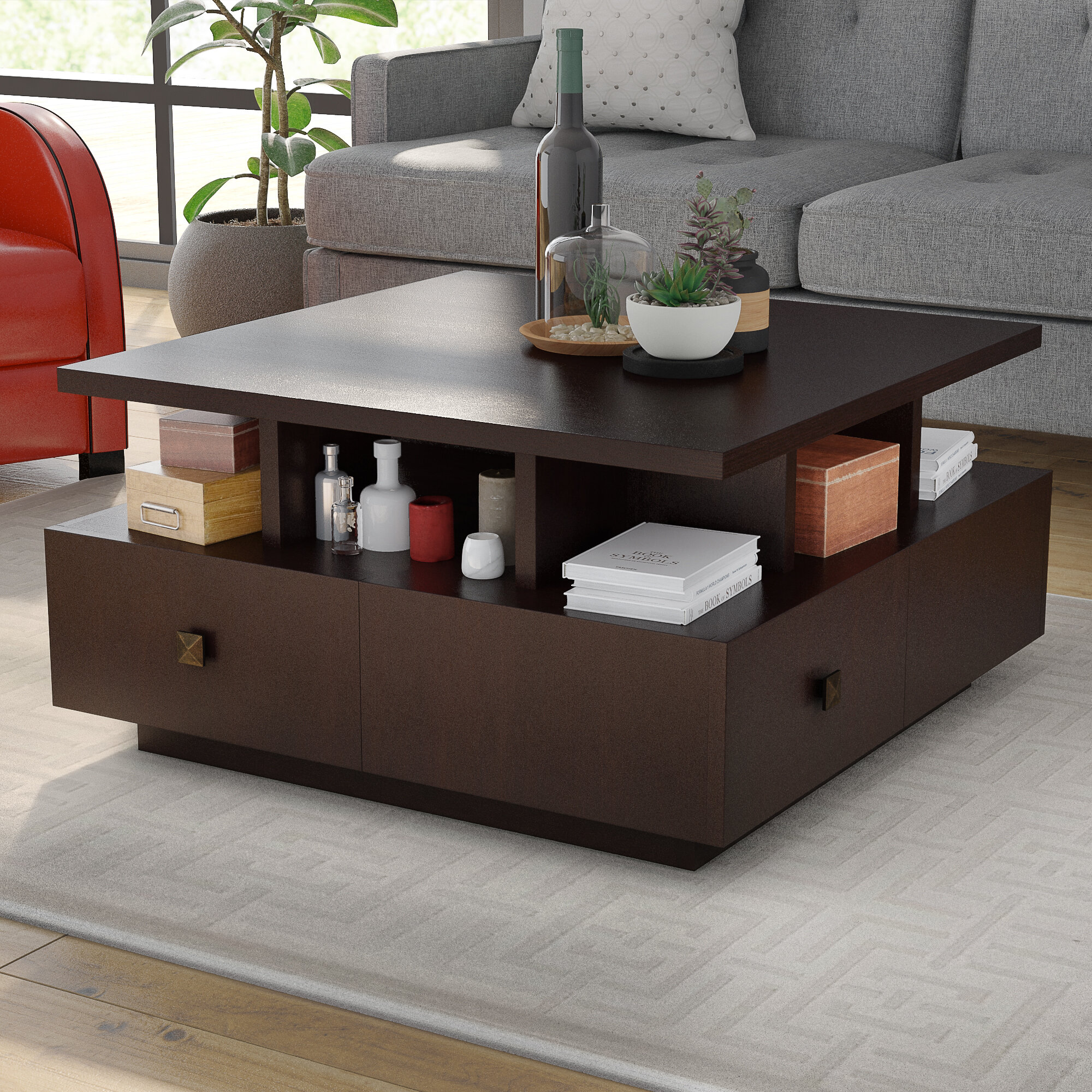 Terrific Square Coffee Table With Storage Pabps2019 Chair Design Images Pabps2019Com