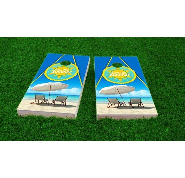 Beach Cornhole Game Set by Custom Cornhole Boards