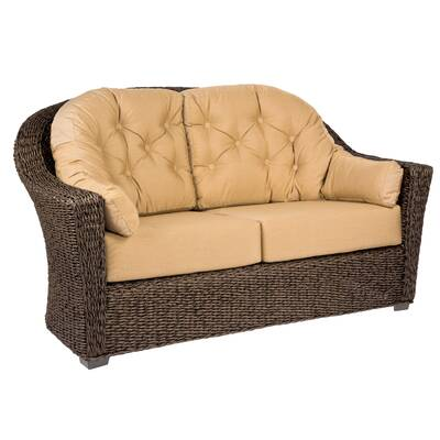 Ophelia Co Karan Wicker Patio Loveseat Reviews Wayfair