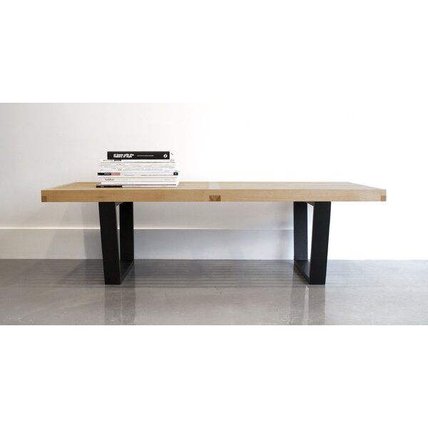 Sharen Mid Century Wood Bench by Union Rustic
