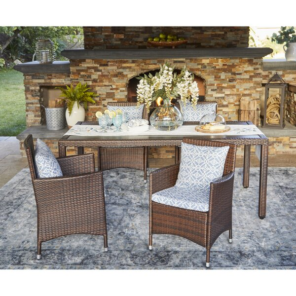 Ellie Patio Dining Chair with Cushion (Set of 2) by Ivy Bronx Ivy Bronx