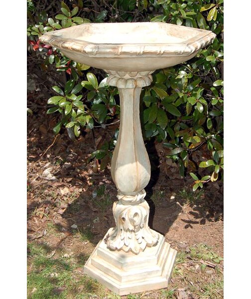 Acanthus Leaf Birdbath by Ladybug Garden Decor