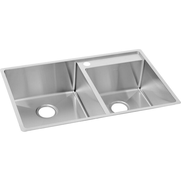 Crosstown 33 L x 21 W Double Basin Undermount Kitchen Sink by Elkay