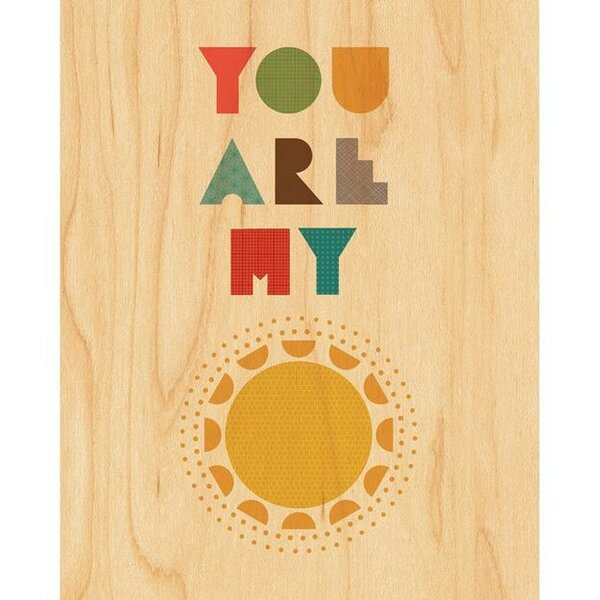 You Are My Sunshine Decorative Plaque by Petit Collage