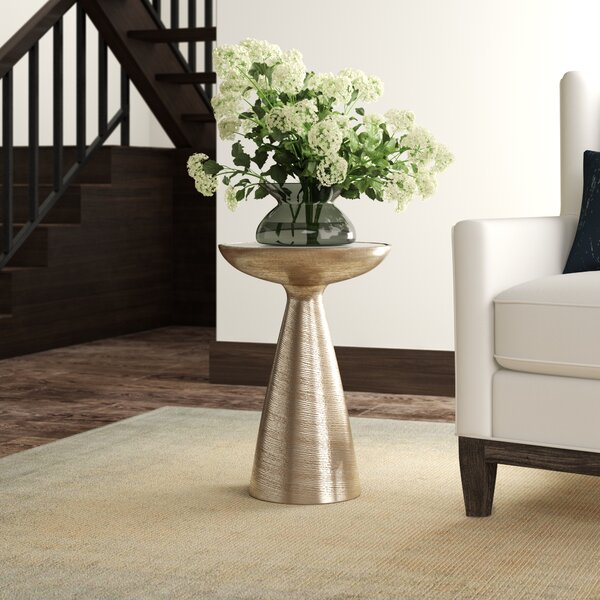 Bevis Pedestal End Table by 17 Stories 17 Stories