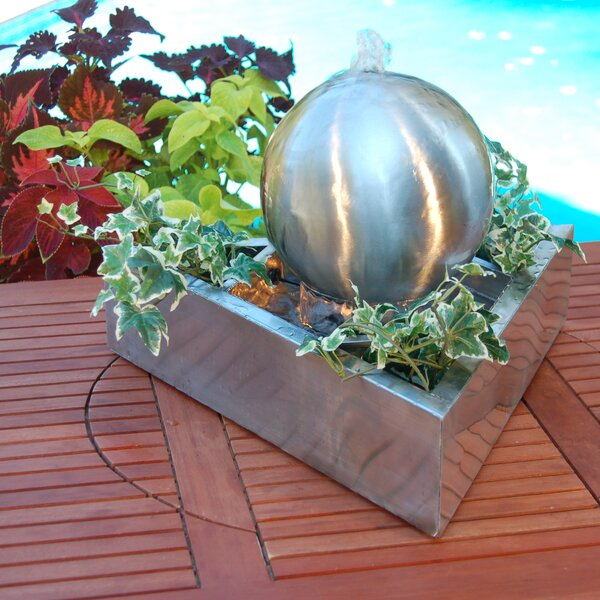 Stainless Steel/Metal Fountain with Light by Pomegranate Solutions, LLC