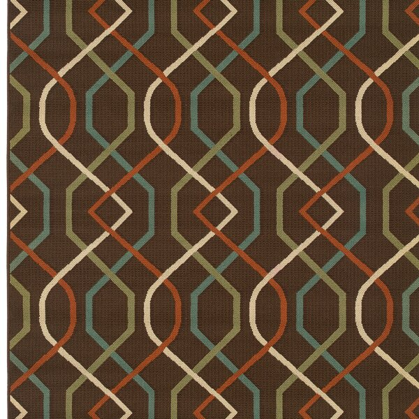 Newfield Brown/Ivory Indoor/Outdoor Area Rug by Threadbind