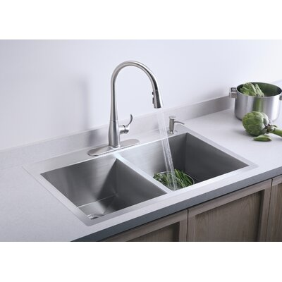 Kohler Kitchen Faucet Single Handle Sweep Spray Stainless Faucets