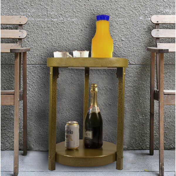 Mathais Multi-Purpose Metal End Table by World Menagerie