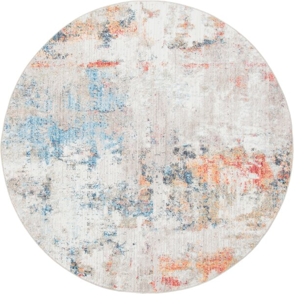 Beaulieu Prism Gray/Blue Area Rug by Wrought Studio