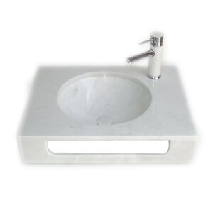 Coupon Pasadena 10 Wall-Mount Bathroom Sink with Overflow By Eviva