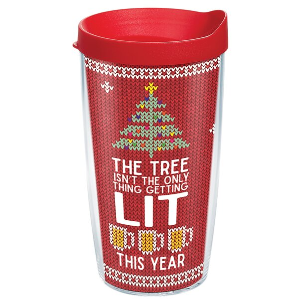 Lit Christmas 16 oz. Plastic Travel Tumbler by Tervis Tumbler