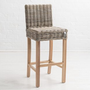 Macclesfield Kubu Rattan 104cm Bar Stool & Bedroom Stool With Storage | Wayfair.co.uk