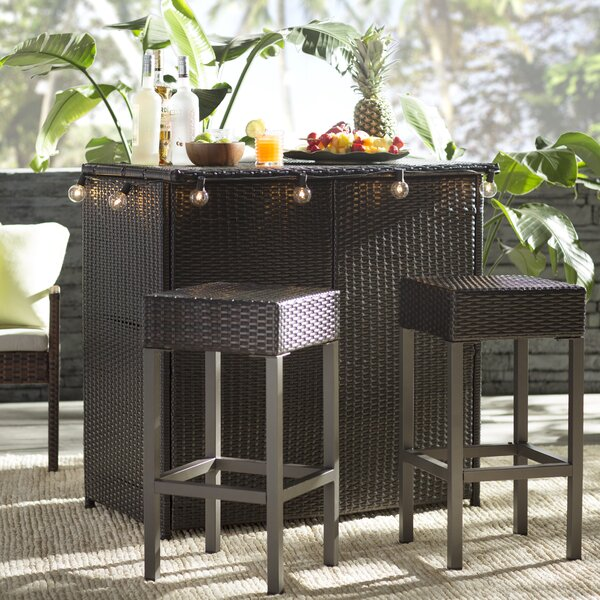 Hallsville 3 Piece Bar Set By Greyleigh