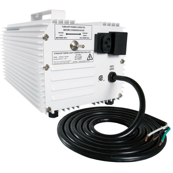 Xtrasun 1000W 480V HPS/MH Convertible Ballast by Hydrofarm