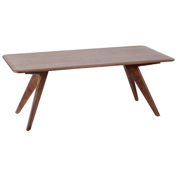 Holm Acacia Solid Wood Dining Table by George Oliver George Oliver