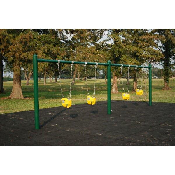4-Seat 1 Post Swing Set by Kidstuff Playsystems, Inc.