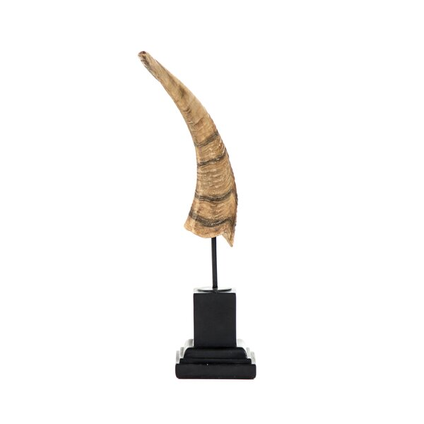 Styron Horn Deco Sculpture by Millwood Pines