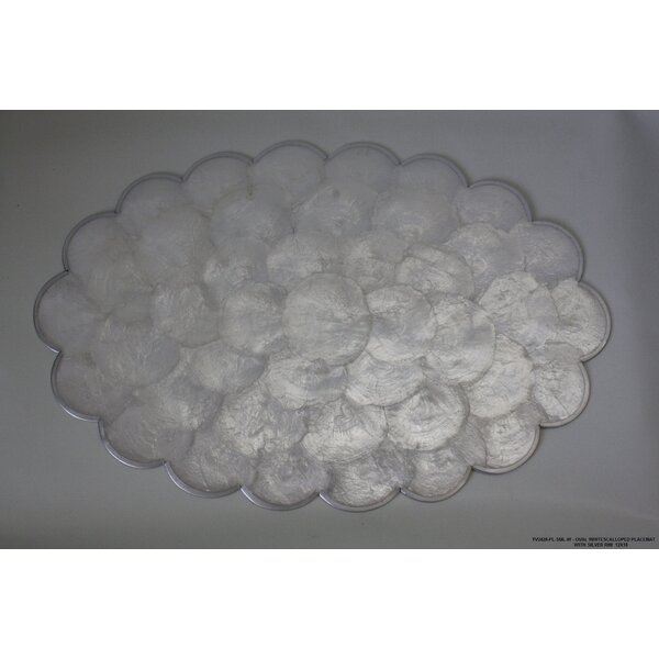 Scalloped Silver Rim Placemat (Set of 4) by Desti Design