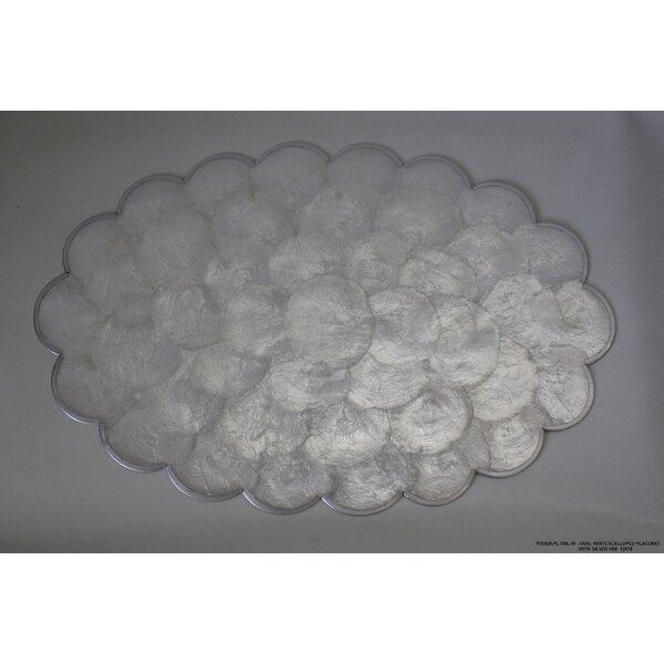 Scalloped Silver Rim Placemat (Set of 4) by Desti Design